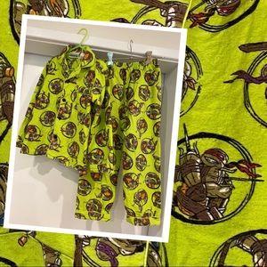 Kids Teenage Mutant Ninja Turtles flannelette pjs